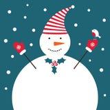 χιονάνθρωπος Χριστουγέν&n Στοκ Φωτογραφία
