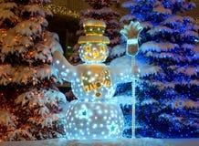 χιονάνθρωπος Χριστουγέν&n Στοκ φωτογραφίες με δικαίωμα ελεύθερης χρήσης