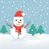 Χιονάνθρωπος Χριστούγεννα, διάνυσμα απεικόνιση αποθεμάτων
