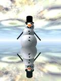 Χιονάνθρωπος 3 διανυσματική απεικόνιση