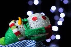 Χιονάνθρωπος Chriamas στοκ φωτογραφία με δικαίωμα ελεύθερης χρήσης