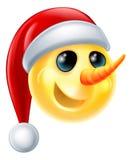 Χιονάνθρωπος Emoji Στοκ φωτογραφία με δικαίωμα ελεύθερης χρήσης