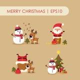 χιονάνθρωπος santa ελαφιών Claus ελεύθερη απεικόνιση δικαιώματος