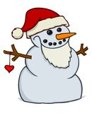 χιονάνθρωπος santa Στοκ Εικόνες