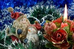 χιονάνθρωπος santa Claus Στοκ φωτογραφία με δικαίωμα ελεύθερης χρήσης