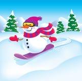 Χιονάνθρωπος Snowboarder Στοκ Εικόνα