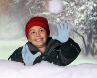 χιονιά σύλληψης Στοκ φωτογραφία με δικαίωμα ελεύθερης χρήσης