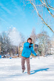 Χιονιές Στοκ εικόνα με δικαίωμα ελεύθερης χρήσης