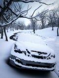 Χιονισμένη τρισδιάστατη απεικόνιση περιβάλλοντος Στοκ Φωτογραφία