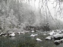 Χιονισμένος ladscape στα Πυρηναία, Ισπανία στοκ εικόνα