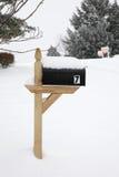 Χιονισμένο αμερικανικό μετα κιβώτιο Στοκ εικόνα με δικαίωμα ελεύθερης χρήσης