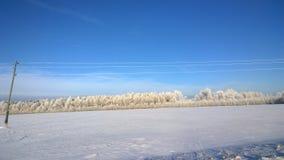 Χιονισμένο πεδίο Στοκ φωτογραφία με δικαίωμα ελεύθερης χρήσης