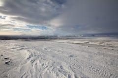 Χιονισμένο τοπίο βαρώνων Στοκ εικόνα με δικαίωμα ελεύθερης χρήσης