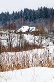 Χιονισμένο χωριό Στοκ φωτογραφία με δικαίωμα ελεύθερης χρήσης