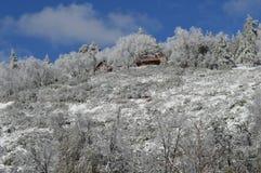 Χιονισμένο SAN Bernardino Mountain Lodge Στοκ εικόνες με δικαίωμα ελεύθερης χρήσης