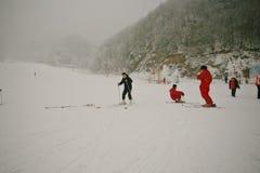 Χιονοδρομικό κέντρο βουνών Funiu Luoyang Στοκ εικόνες με δικαίωμα ελεύθερης χρήσης