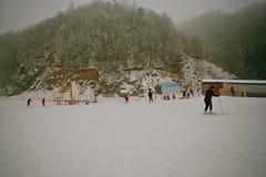 Χιονοδρομικό κέντρο βουνών Funiu Luoyang Στοκ Εικόνες