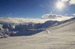 Χιονοδρομικό κέντρο Γαλλία Espace Killy Στοκ Φωτογραφία