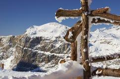 Χιονοδρομικό κέντρο Γαλλία Espace Killy Στοκ Εικόνες