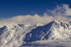 Χιονοδρομικό κέντρο Γαλλία Espace Killy Στοκ Φωτογραφίες