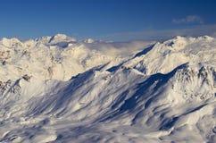 Χιονοδρομικό κέντρο Γαλλία Espace Killy Στοκ φωτογραφία με δικαίωμα ελεύθερης χρήσης