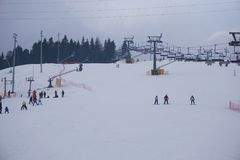 Χιονοδρομικό κέντρο Bania σε Bialka Tatrzanska Πολωνία Στοκ Εικόνα