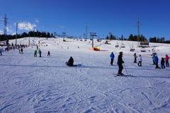 Χιονοδρομικό κέντρο Bania σε Bialka Tatrzanska Πολωνία στοκ εικόνες
