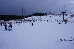 Χιονοδρομικό κέντρο Bania σε Bialka Tatrzanska Πολωνία στοκ φωτογραφία με δικαίωμα ελεύθερης χρήσης