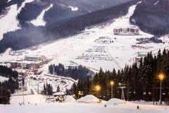 Χιονοδρομικό κέντρο Bukovel Στοκ φωτογραφίες με δικαίωμα ελεύθερης χρήσης