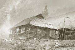 Χιονοθύελλα Chernogora άνοιξη Στοκ φωτογραφίες με δικαίωμα ελεύθερης χρήσης