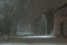 Χιονοθύελλα Στοκ φωτογραφία με δικαίωμα ελεύθερης χρήσης