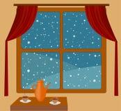 χιονοπτώσεις δωματίων θ&epsil ελεύθερη απεικόνιση δικαιώματος