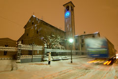 χιονοπτώσεις παράδοσης στοκ εικόνα με δικαίωμα ελεύθερης χρήσης