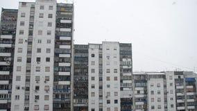 Χιονοπτώσεις σε μια πόλη φιλμ μικρού μήκους
