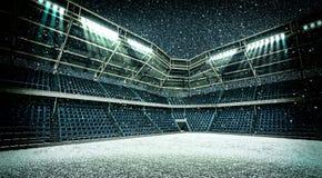 Χιονοπτώσεις σταδίων Στοκ Φωτογραφίες