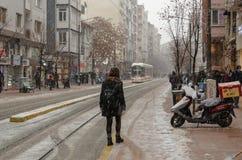 Χιονοπτώσεις στην πόλη στοκ εικόνες με δικαίωμα ελεύθερης χρήσης