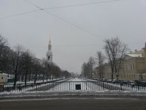 Χιονοπτώσεις στο Haymarket Στοκ φωτογραφίες με δικαίωμα ελεύθερης χρήσης