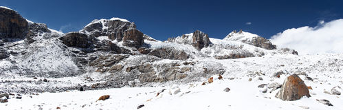 χιονοπτώσεις του Νεπάλ &beta στοκ εικόνες με δικαίωμα ελεύθερης χρήσης