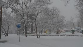 χιονοπτώσεις απόθεμα βίντεο