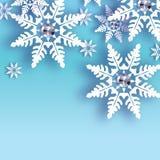 Χιονοπτώσεις Origami με το διαμάντι Κάρτα χαιρετισμών καλής χρονιάς κρυστάλλου ελεύθερη απεικόνιση δικαιώματος