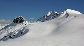 Χιονοσκεπείς αιχμές επάνω από τον παγετώνα Appa Στοκ Εικόνα
