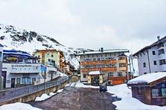 Χιονοδρομικό κέντρο Αυστρία του Christoph AM Arlberg Sankt Στοκ εικόνα με δικαίωμα ελεύθερης χρήσης