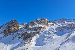 Χιονοδρομικό κέντρο βουνών - Ίνσμπρουκ Αυστρία Στοκ εικόνες με δικαίωμα ελεύθερης χρήσης