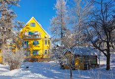 Χιονοδρομικό κέντρο βουνών Bad Hofgastein - Αυστρία Στοκ φωτογραφίες με δικαίωμα ελεύθερης χρήσης
