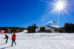Χιονοδρομικό κέντρο Ιαπωνία Στοκ Εικόνα