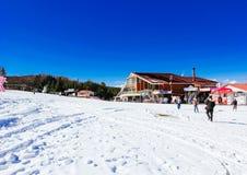 Χιονοδρομικό κέντρο Ιαπωνία Στοκ Εικόνες