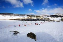 Χιονοδρομικό κέντρο κοιλάδων Perisher Στοκ εικόνα με δικαίωμα ελεύθερης χρήσης