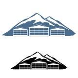 Χιονοδρομικό κέντρο λογότυπων Στοκ εικόνα με δικαίωμα ελεύθερης χρήσης