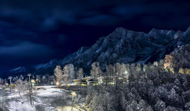 Χιονοδρομικό κέντρο σε Krasnaya Polyana SOCHI Στοκ φωτογραφίες με δικαίωμα ελεύθερης χρήσης