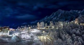 Χιονοδρομικό κέντρο σε Krasnaya Polyana SOCHI Στοκ φωτογραφία με δικαίωμα ελεύθερης χρήσης